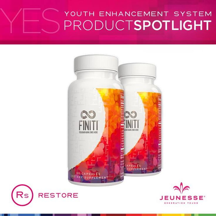 Introducing FINITI FINITI naturally enhances the enzyme (telomerase) needed to lengthen our short telomeres. This adds life to our cells Of course nothing is known to stop the aging process, but healthy cells equal healthy  internal systems...Healthy systems equal a healthy body...And a healthy body equals a strong, happy, youthful YOU!