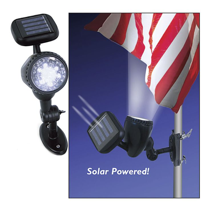 Solar Flagpole Light - Solutions for Home, Yard, Garden & Auto