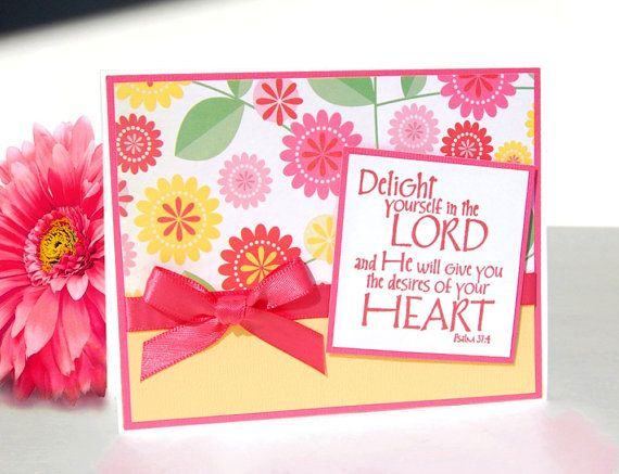 Handmade Christian Greeting Card  Psalm 374  Free by TheHumbleShop