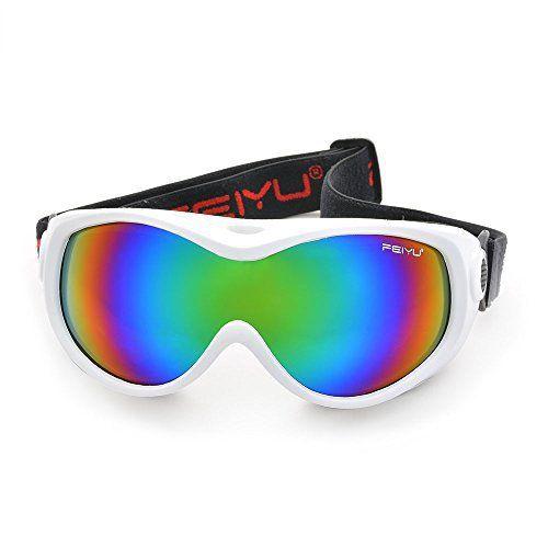 Lunettes de Ski antibrouillard – ODOLAND Masque de ski étanche pour Enfants 6+ ans/Juniors avec Sangle élastique – Lunette incassable et…