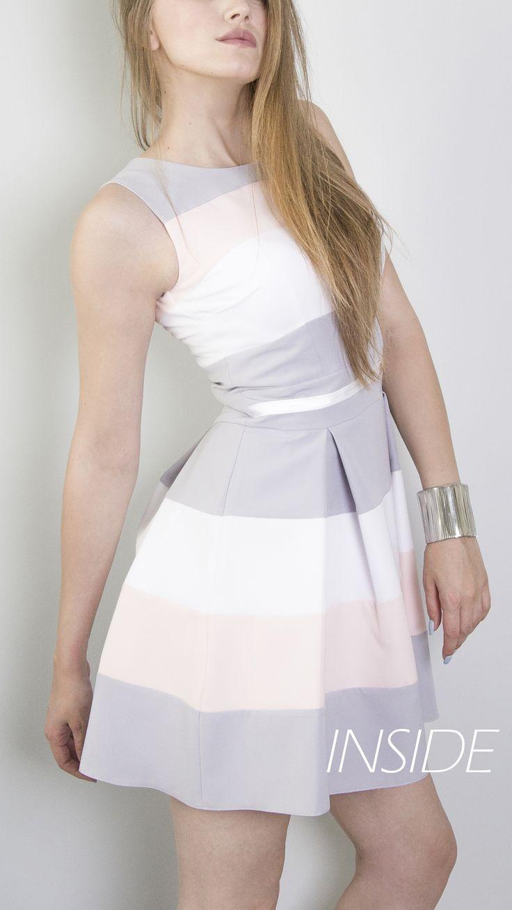 Sukienka idealna na wesele, chrzicny, komunię, 18stkę, 100dniówkę i wiele innych. Delikatne pastelowe kolory. Wysmukla i modeluje sylwetkę. https://www.facebook.com/inside.sukienki