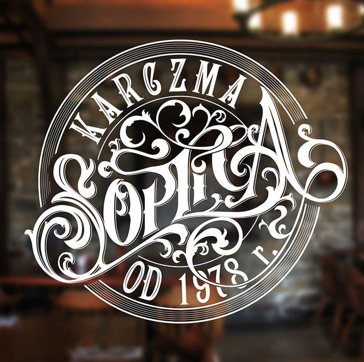 Restaurant hand lettered branding