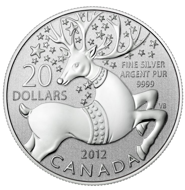 $20 for $20 Fine Silver Coin - Magical Reindeer (2012)