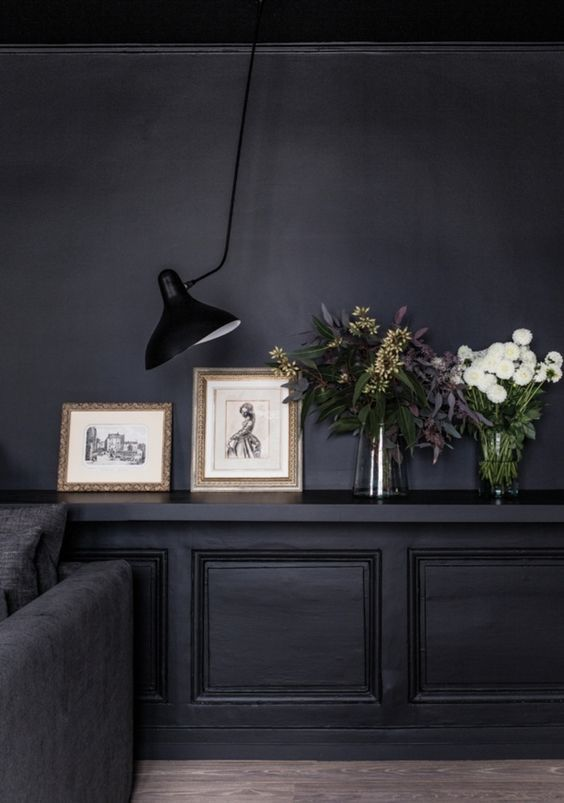 25 best ideas about dark walls on pinterest dark blue Room with black walls