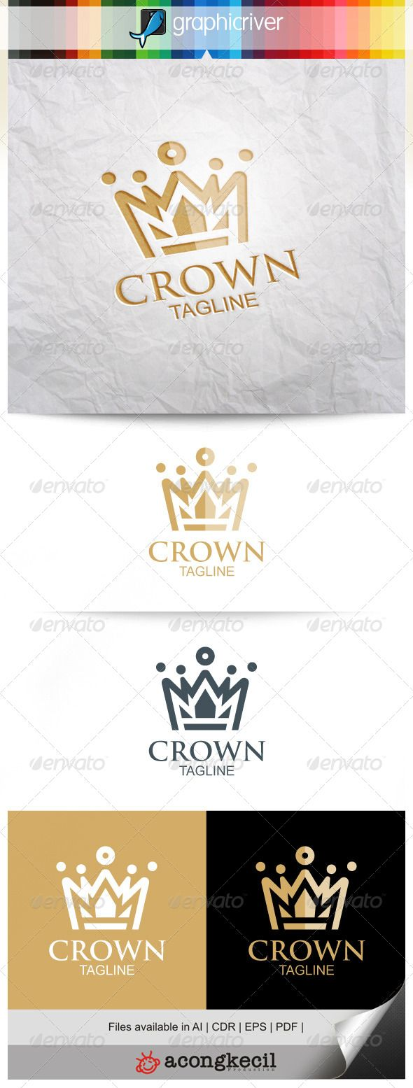 Crown - Logo Design Template Vector #logotype Download it here: http://graphicriver.net/item/crown-logo/8240369?s_rank=807?ref=nesto