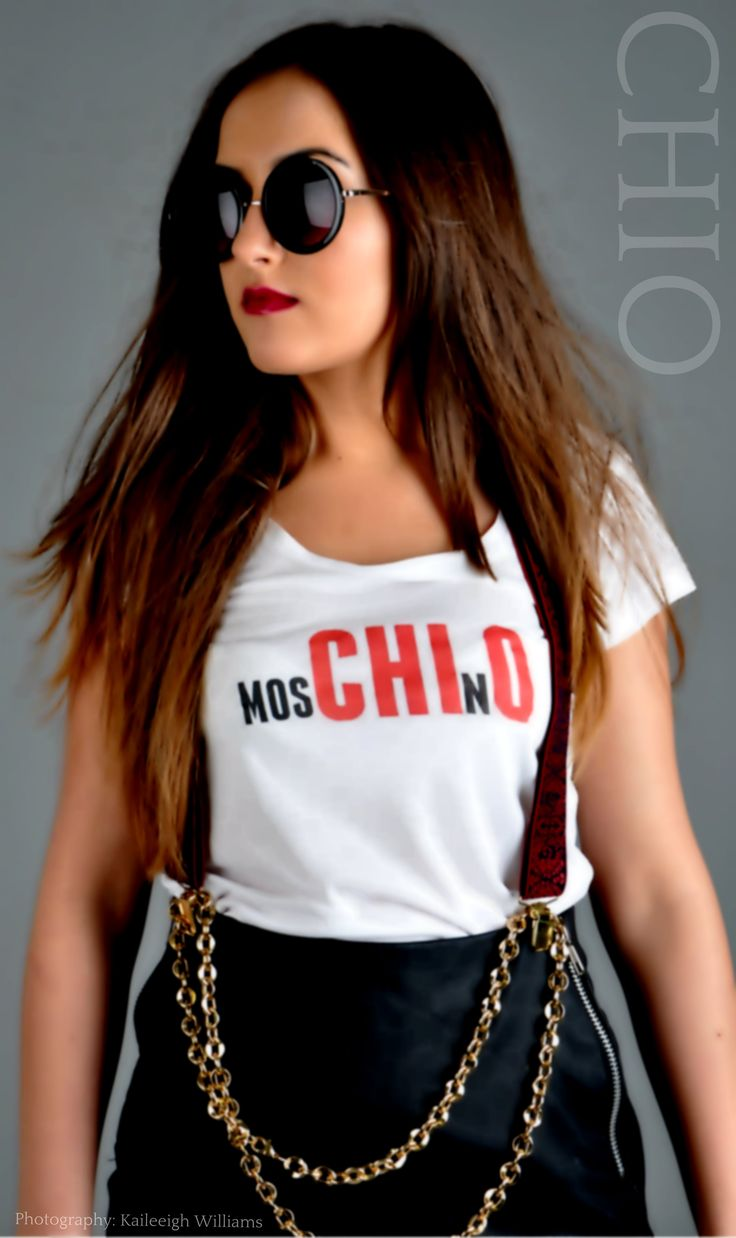 Styling Chio Ohajuru fashion moschino photo-shoot glam model tshirts