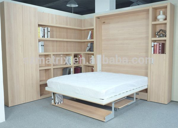 2014 terlaris disesuaikan kayu lipat tersembunyi dinding tempat tidur , tempat tidur murphy