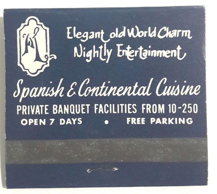 Marbella Restaurant Matchbook Spanish Cuisine Northern Bayside Queens NY 1970