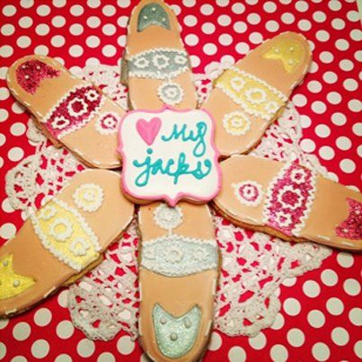 Jack Rogers inspired homemade cookies-- definitely doing this!