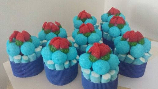 Mini tartas de chuches