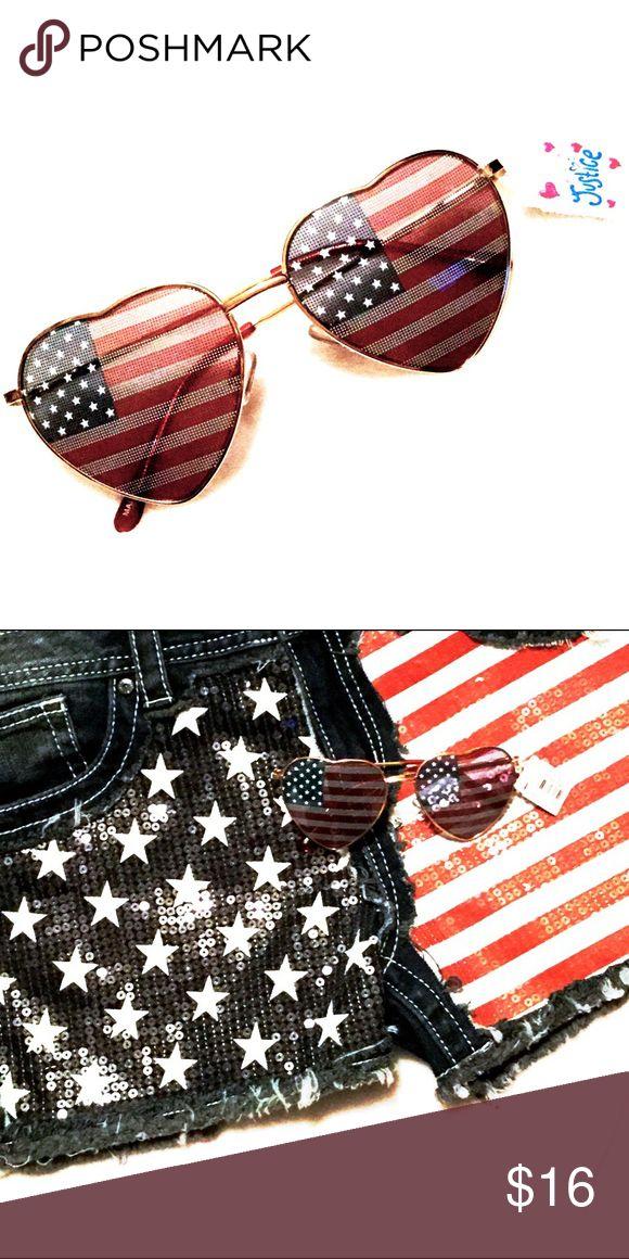 NWT USA American Flag Sunglasses NWT USA American Flag Sunglasses Justice Accessories Sunglasses