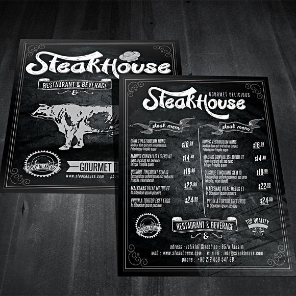 64 best Restaurant Menu Design Templates images on Pinterest - restaurant menu design templates