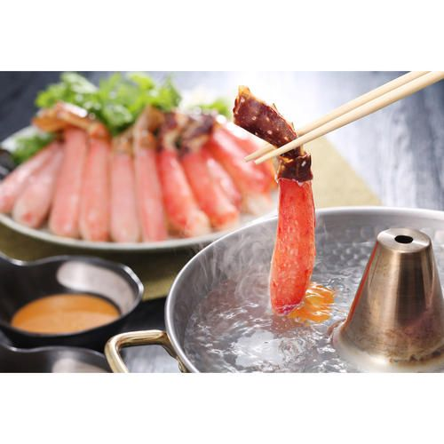 人気のたらばがにと上品な味のずわいがにのしゃぶしゃぶを楽しめる食べ比べのセットです。熱い鍋でしゃぶしゃぶはもちろんですが、さっと湯にくぐらせ、氷で冷やし「冷しゃぶ」もお楽しみいただけます。またしゃぶしゃぶに限らず、カニ鍋や天ぷらなどの料理にもご利用いただけます。