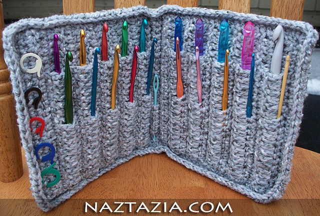 crochet hook case - free patternIdeas, Fun Recipe, Free Pattern, Cases Projects, Holders Cases, Crochet Hooks Cases, Crafts, Knits Needle, Hooks Holders