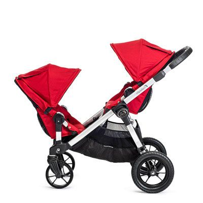 you can turn any City Select into a double stroller (available in teal, red, silver, black - with a chrome or black frame)