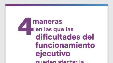 Gráfico de 4 Maneras en que las dificultades del funcionamiento ejecutivo pueden afectar la vida social de su hijo