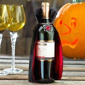 Dracula's cape wine bottle cover