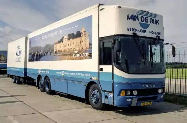 KLM Cargo Volvo bus chassis, built with box body. CompanyJan de Rijk Logistics BV Fresh