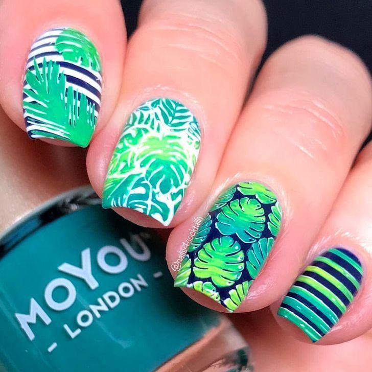 50 Cute Tropical Nails Art Ideas For This Summer 50 Cute Tropical Nails Art Ideas For This Summer