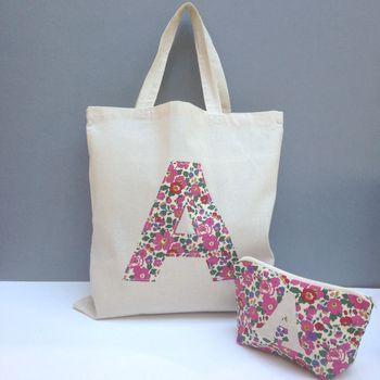 Liberty Print Applique Tote Bag More