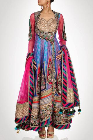Blue and purple long anarkali suit available online – Panache Haute Couture http://panachehautecouture.co.in/products/blue-and-purple-long-anarkali-suit-available-online