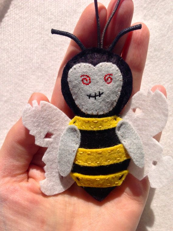 Felt Halloween ZomBee Ornament Save The by TheDelightfulBee