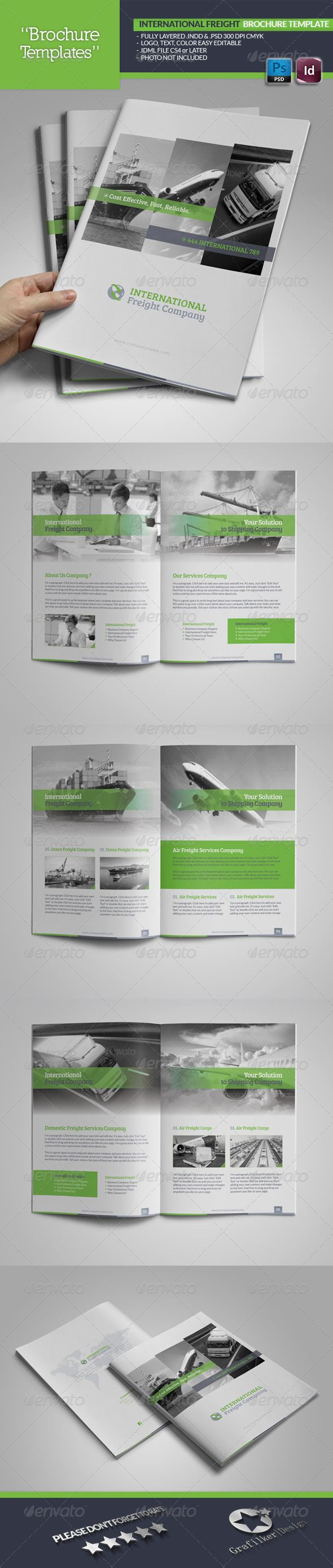 International Freight Brochure Template