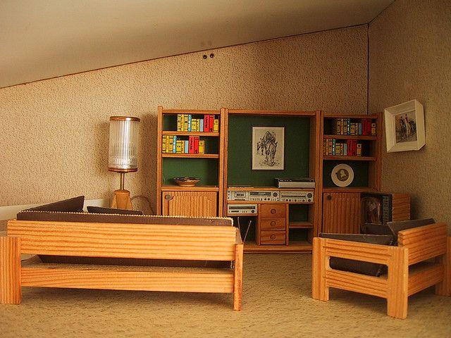 Vintage Lisa dolls house lounge | Flickr - Photo Sharing!