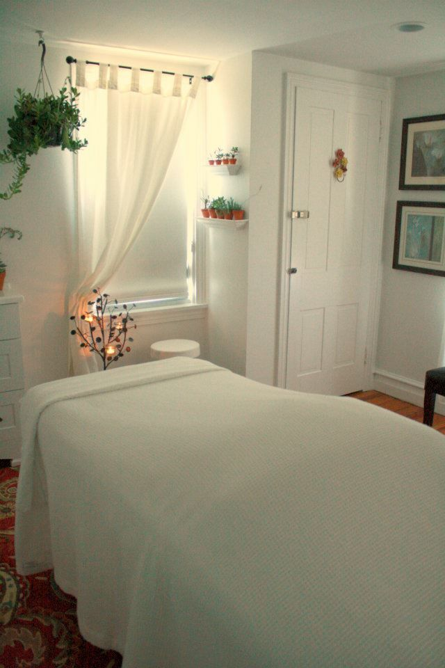 Our beautiful and relaxing massage room.