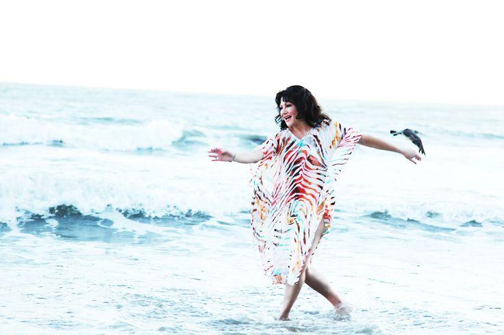 Malibu CA glorious water, glorious fun. Irina Maleeva frolicking in the waves
