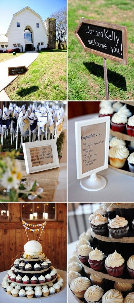 Real Country Wedding: The Dairy Barn- Fort Mill, SC  Cupcake Tiers