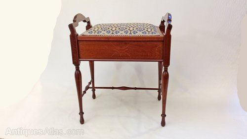 Edwardian Piano Stool - Antiques Atlas