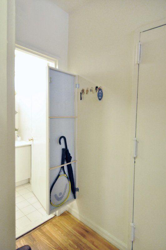 IKEA hack : mettre des pentures sur le miroir STAVE et le tour est joué !
