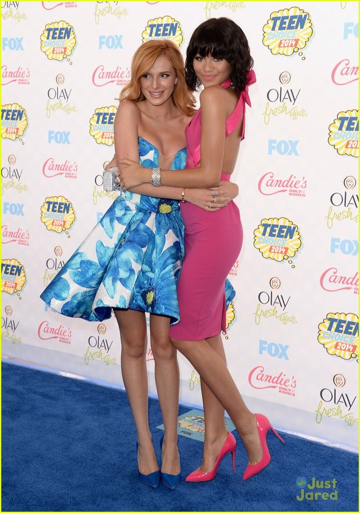 Bella Thorne and Zendaya at the Teen Choice Awards 2014