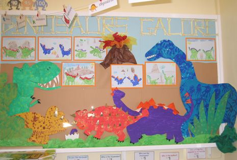 Key Stage 1 children learn about fossils and dinosaurs.