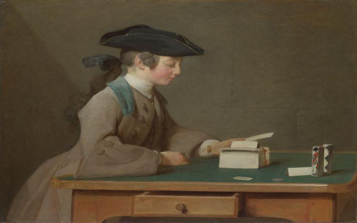 Карточный домик, Жан-Симеон Шарден.