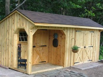 10x20 Shed With Porch Board Batten Siding Shingle Roof