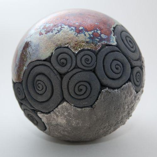 Keramik Kugel Raku-Technik