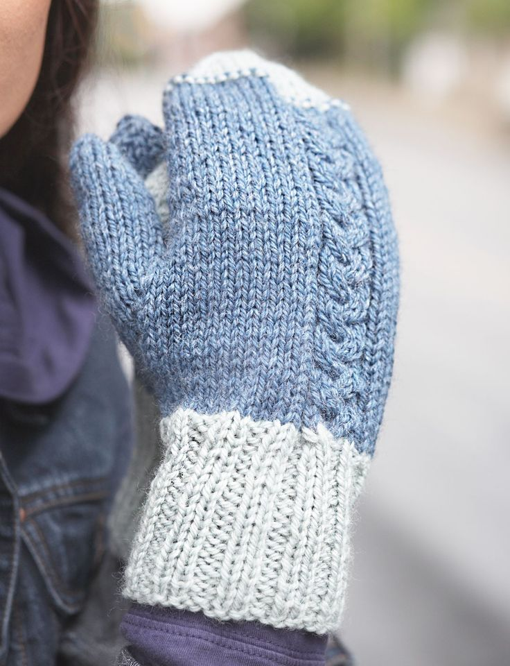Patons Knitting Patterns For Fingerless Gloves : Yarnspirations.com - Patons Off-Set Cable Mittens ...