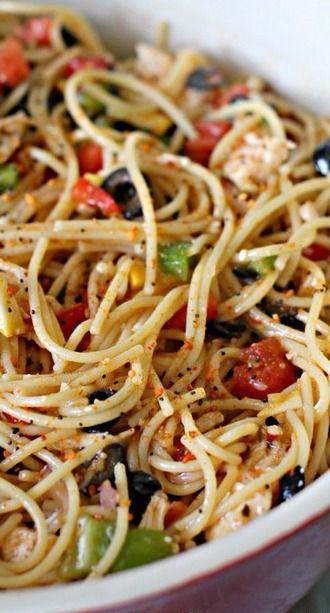 Spaghetti Salad   Six Sisters' Stuff