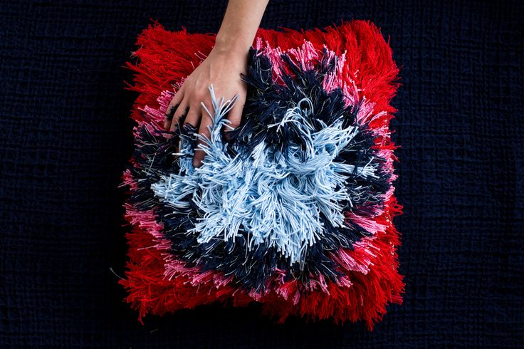 "Daisy Watt - RMIT Textile Design. Hand woven 'Rya Knot"" technique."
