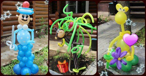 Оформление детского дня рождения воздушными шарами