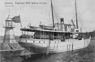 """Ångfartyget """"Viktor Rydberg"""" Jönköping 1885"""