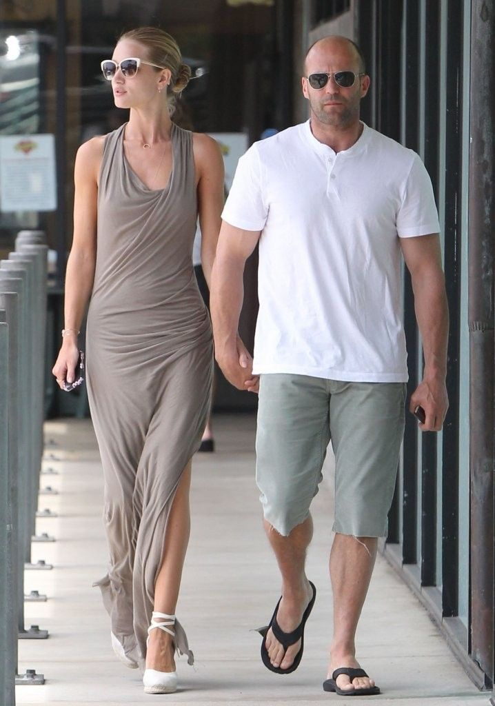 Rosie Huntington-Whiteley - Rosie Huntington-Whiteley & Jason Statham Out For Breakfast At Plate Restaurant