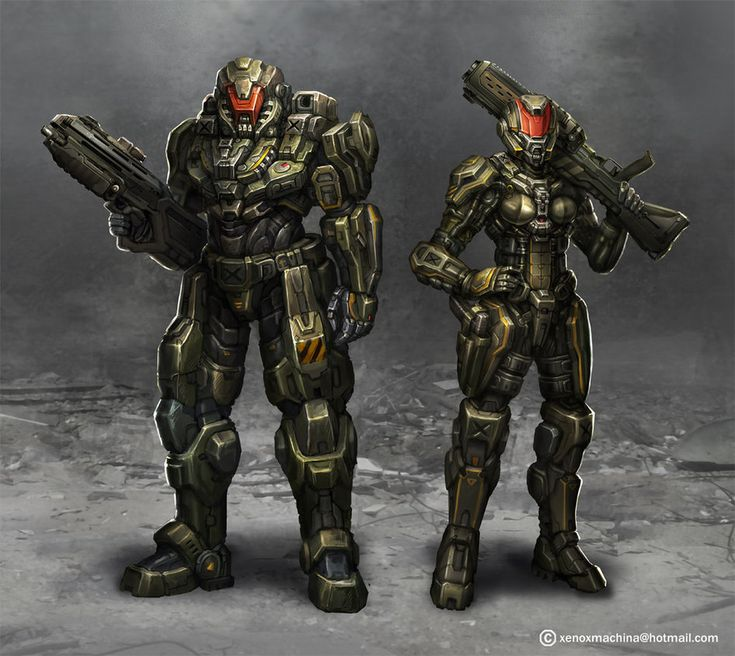 Starship Troopers soldiers  redesign, inspired by Halo suits. Just for fun, thanks for looking.