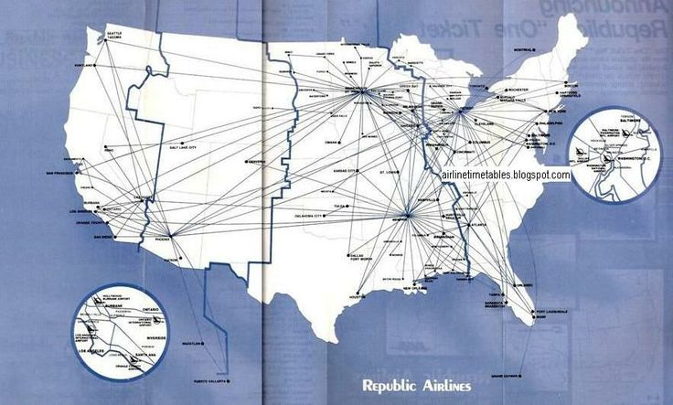 north central and republic airlines photos | timetablesonline.com: Republic Airlines - December, 1984