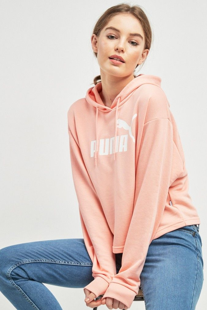 Womens Puma Essentials Hoody Pink | Hoodies, Fashion, Shopping
