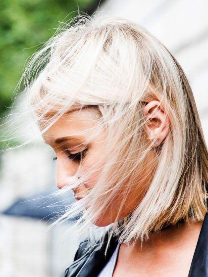 Für das perfekte Aschblond solltest du lieber die Finger von Haaröl lassen!