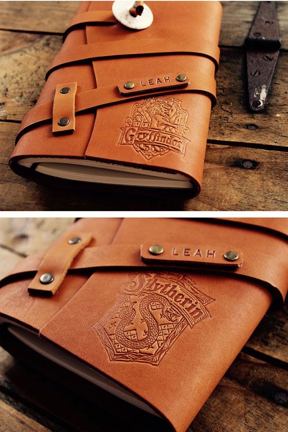 50% OFF! Hogwarts Gryffindor Refillable personalized Leather Notebook...Handmade in Portland...SALE TODAY! Small only 20 dollars