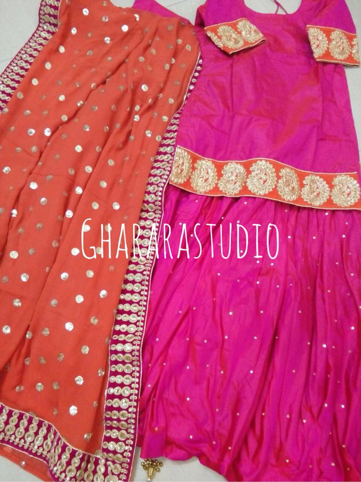 Hot Pink and Orange Pure Silk Gharara.  Deliver Worldwide Complete stitched  Whatsapp @ 9971865919 ghararastudio@gmail.com Inbox in Facebook  #Gharara #ghararastudio #ghararadesgins #partywear #partydress #partygharara #party #ethnic #indianbride #indiafashion #indianbeauty #royalgharara #hotpink #orange #silk #silkgharara #beauty #wedding #weddingdress #weddinggharara #bride #bridal #bridalgharara #instapic #picoftheday #fashion #style #shaadi #walima #reception #embroidery #laces